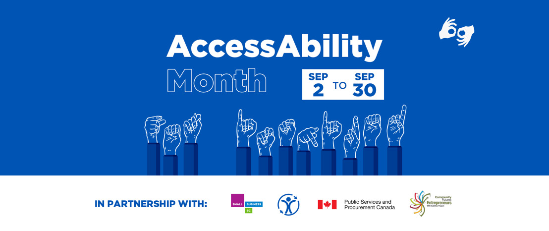 September is AccessAbility Month at Small Business BC
