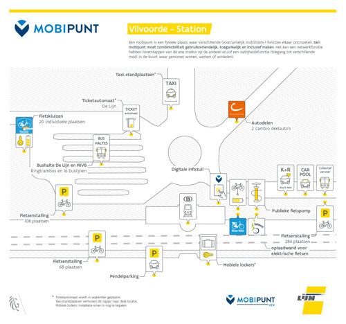 Stad Vilvoorde opent samen met De Lijn nieuw 'mobipunt' met 2 primeurs: een digitale infozuil en fietskluizen met ingebouwd oplaadpunt