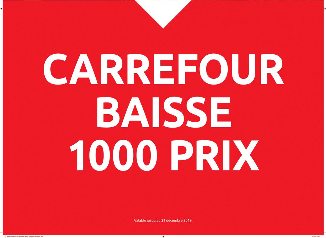 Carrefour baisse le prix de plus de 1000 produits