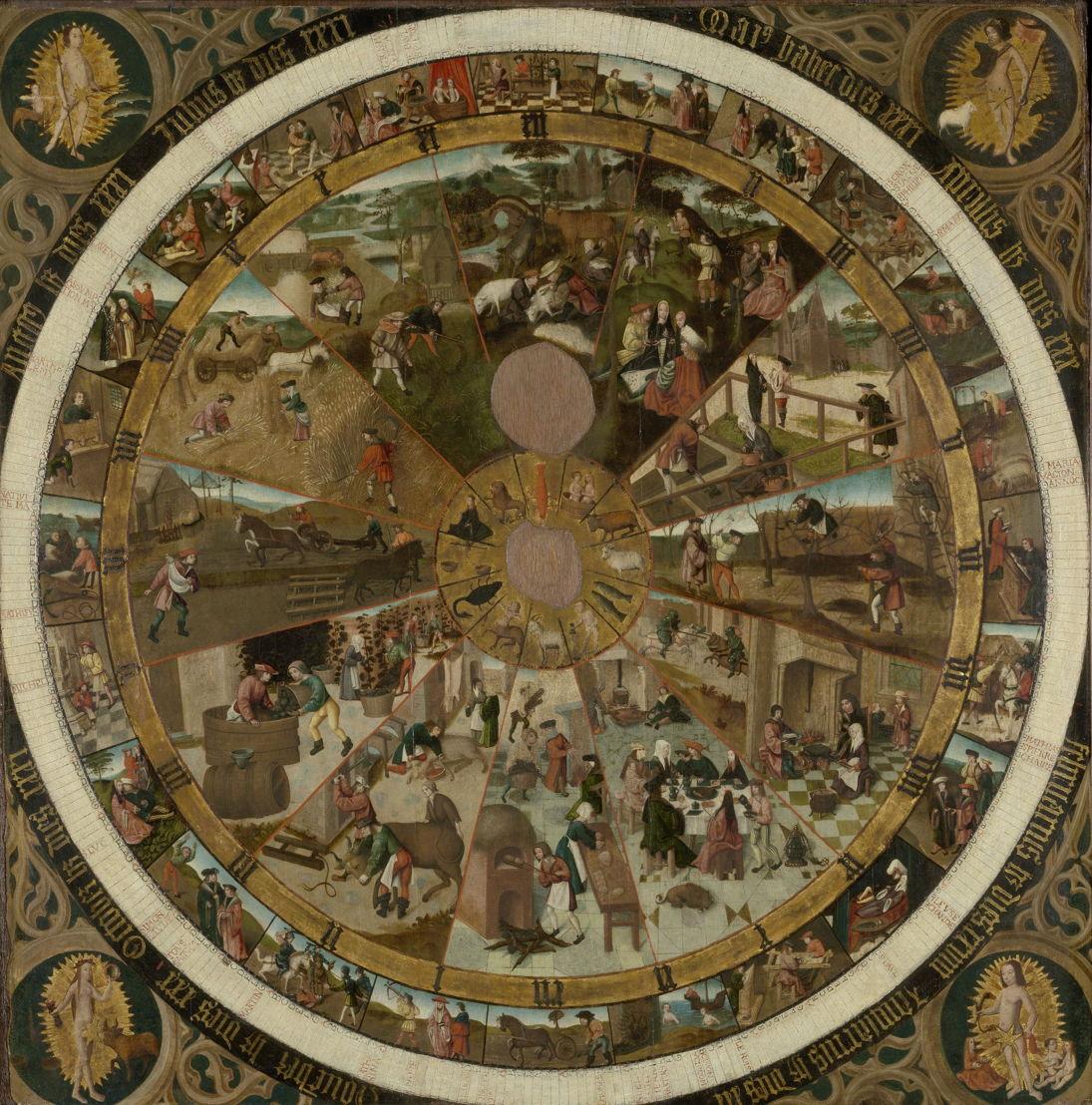 Cadran horaire et calendrier, Pays-Bas Méridionaux, c. 1500 © Lukas - Art in Flanders, foto Dominique Provost