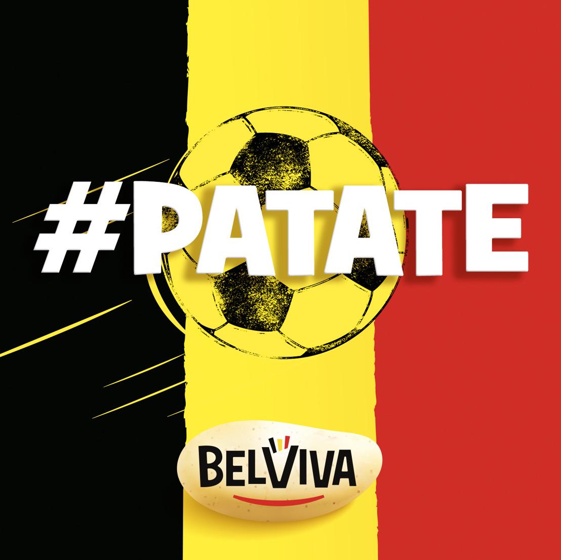 Air et Belviva sponsorisent le mot « Patate » pour la donner à toute la Belgique.