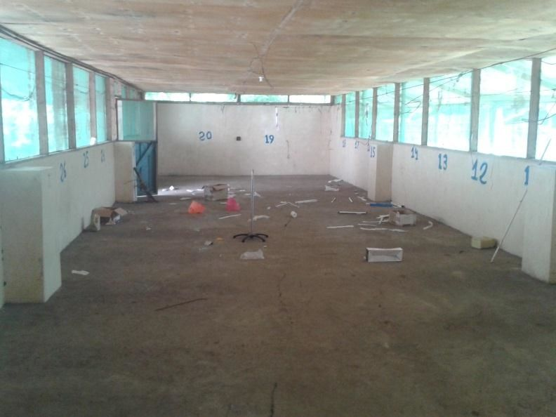 This cell phone photo shows the MSF clinic in Leer, South Sudan, following looting. Medical activities in the area remain suspended two months on as fighting continues and access to the affected populations is blocked. Photo: MSF
