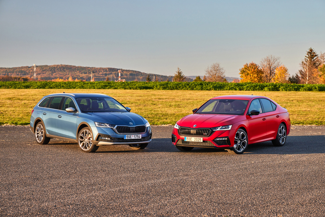 ŠKODA OCTAVIA RS and OCTAVIA SCOUT: The bestseller's range-toppers are sporty and multifunctional everyday companions