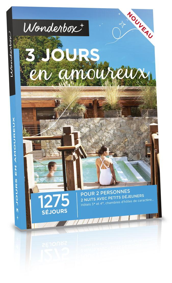 Wonderbox 3 jours en amoureux 139,90€.