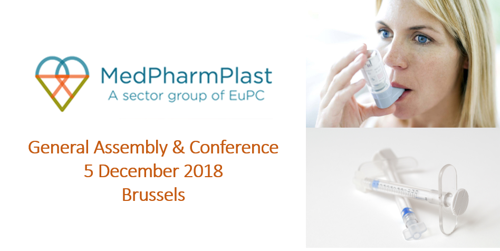 Preview: INVITATION to the MedPharmPlast Europe GA & Conference on 5 December 2018 in Brussels
