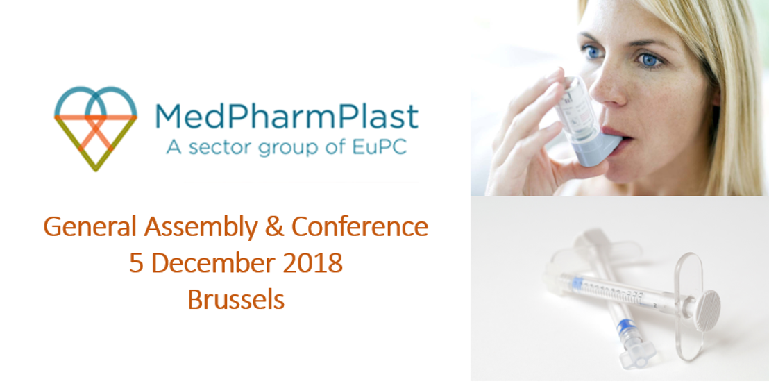 MedPharmPlast Europe GA & Conference on 5 December 2018 - Key Speakers confirmed