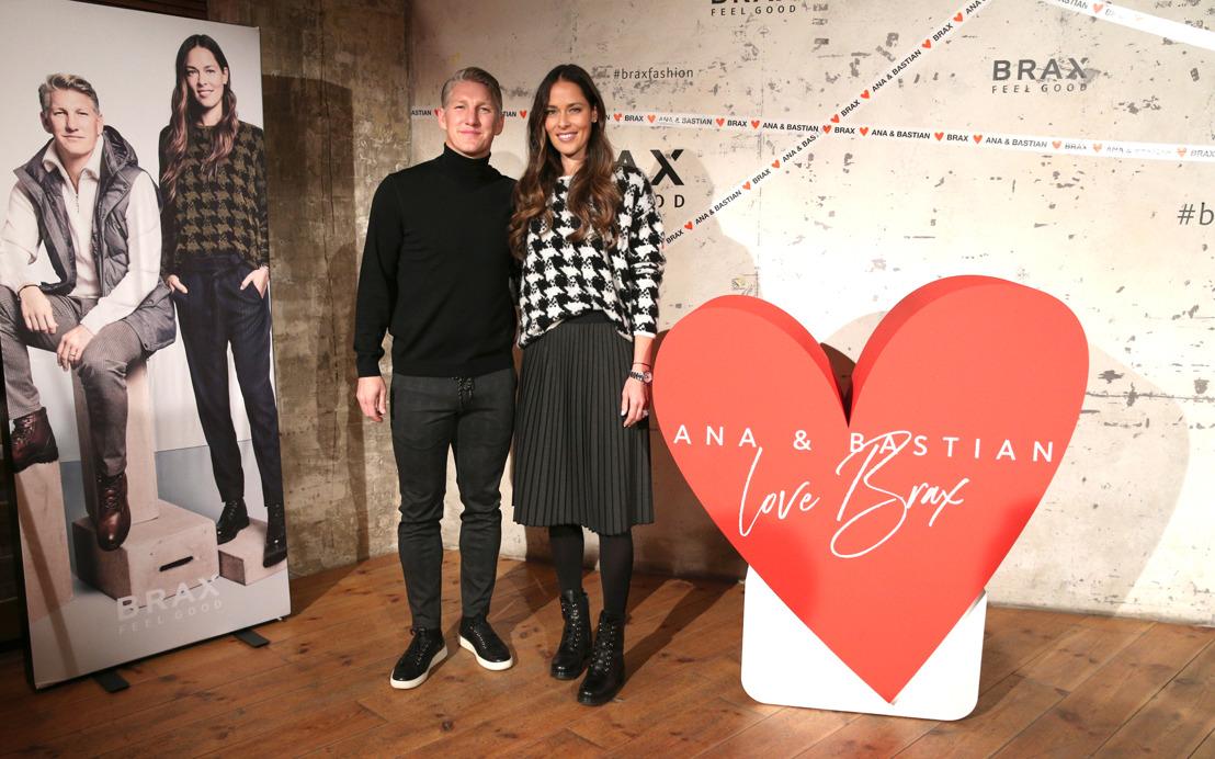 Ana and Bastian Schweinsteiger celebrate with BRAX