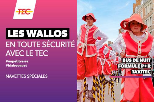 Les Wallos à Namur : le TEC propose plusieurs solutions pour un retour en sécurité