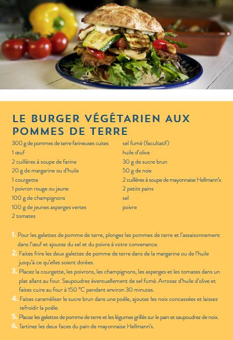 Recette Le Burger Végétarien Aux Pommes De Terre