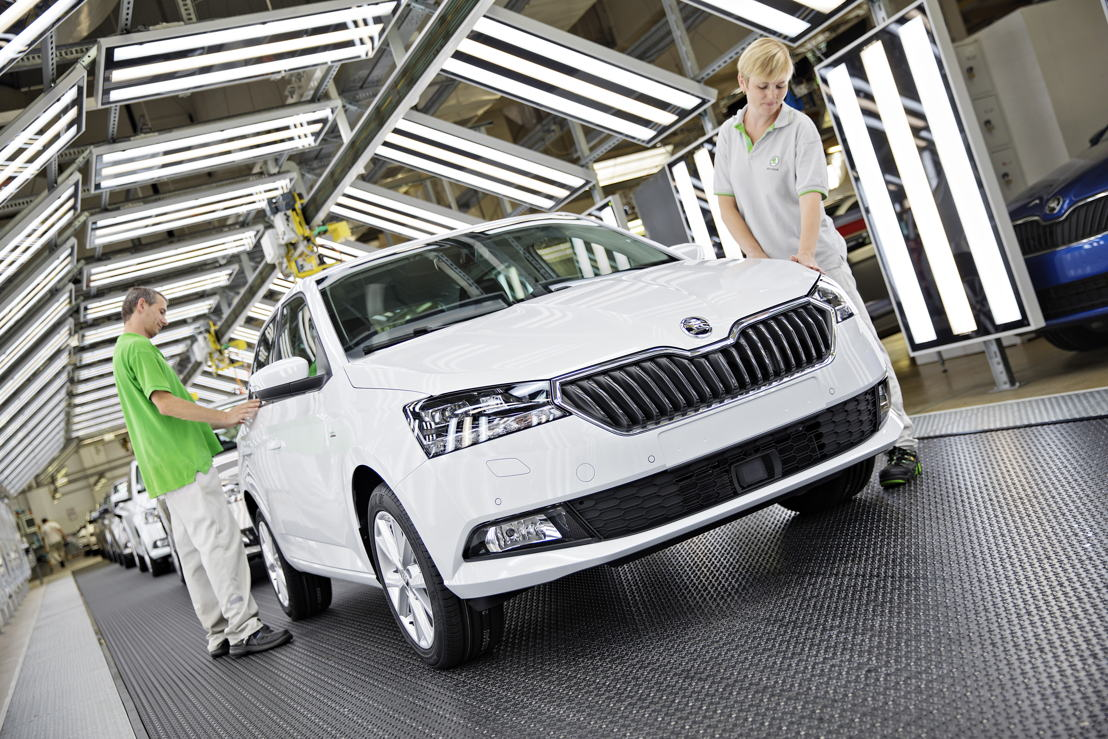 ŠKODA has given its FABIA a comprehensive facelift.<br/>Today, the first car has rolled off the production line in<br/>Mladá Boleslav.