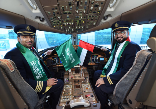Emirates celebrates Saudi National Day with special one-off A380 flight to Riyadh