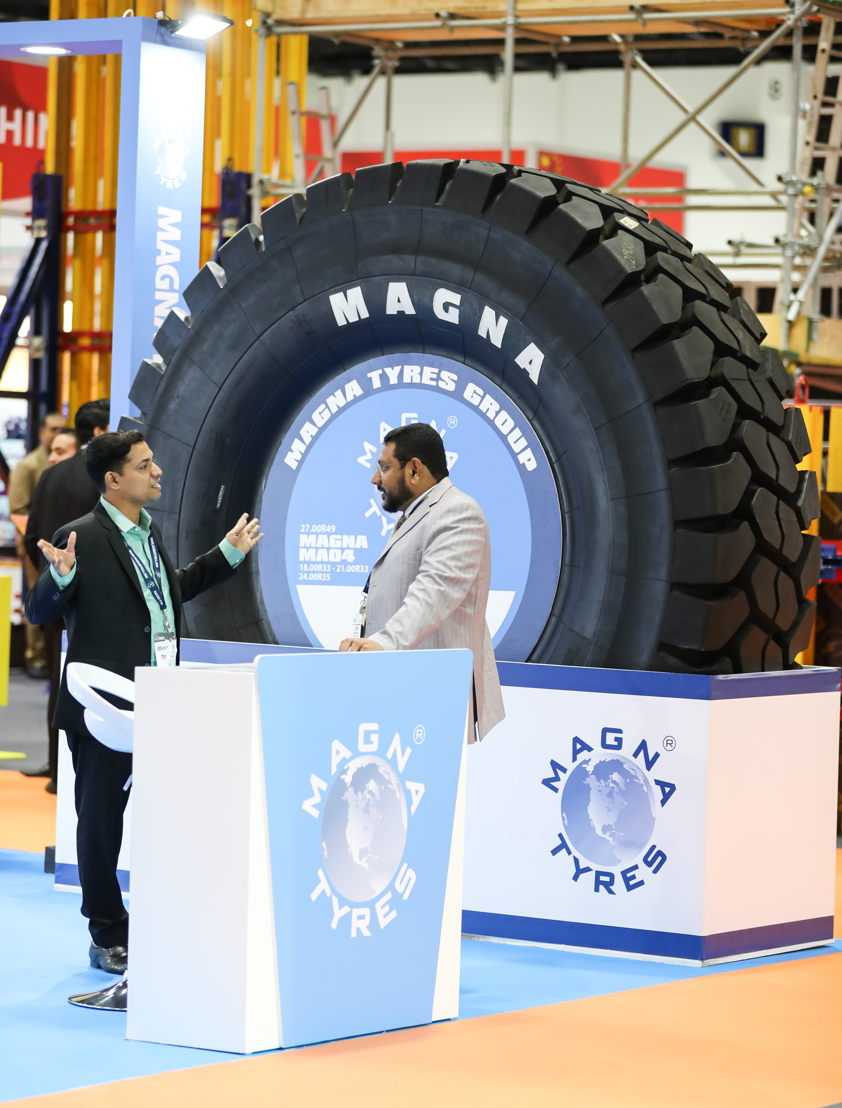Magna Tires exhibit at The Big 5 Heavy
