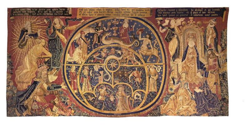 In Search of Utopia © The Motion of the Universe, Flanders or Tournai, c.1490 –1510. Toledo, Museo de tapices y textiles de Toledo (Catedral de Toledo: Colegio de Infantes).