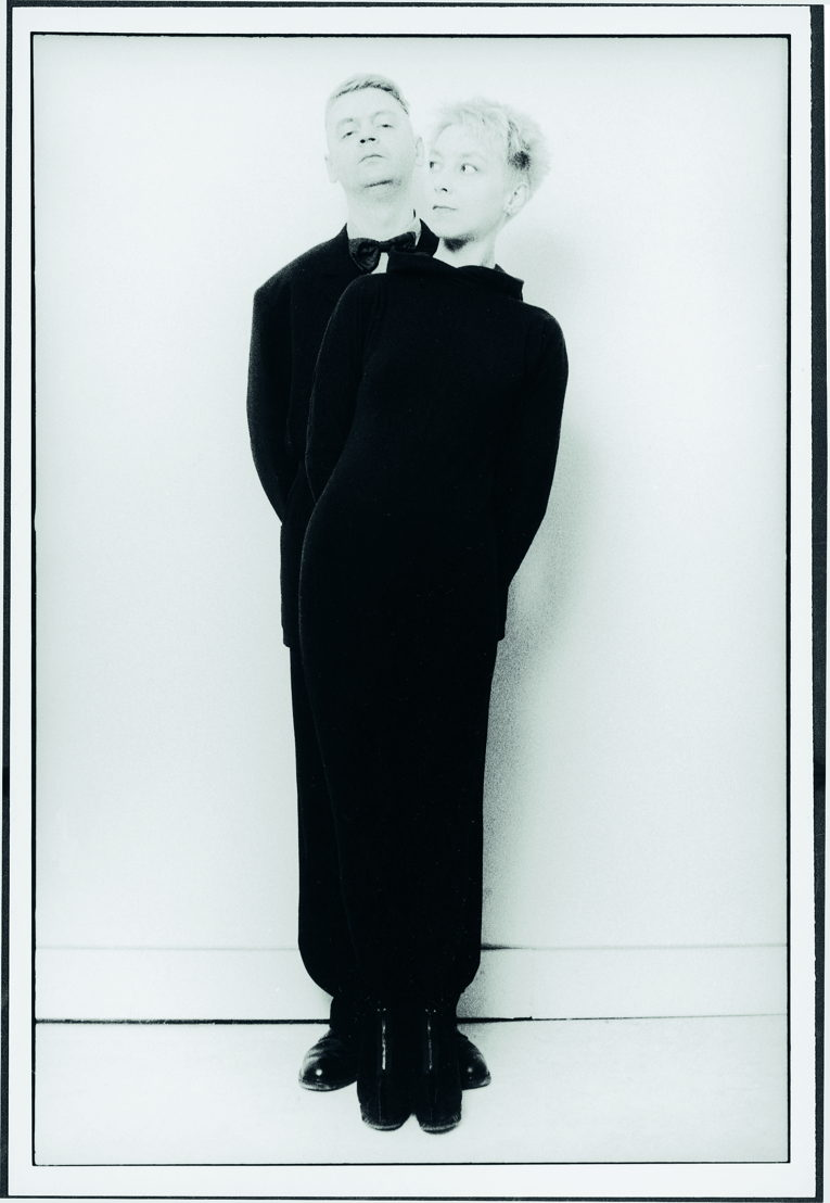 Jan Decorte en Sigrid Vinks, promotiefoto voor Meneer, de zot & het kind, 1991. Foto Danny Willems