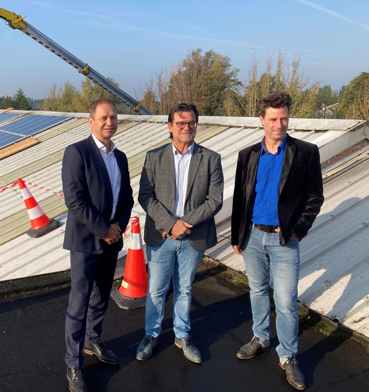 Jean-Jacques Delmée (CEO Eneco België), Eddy Bevers (burgemeester Willebroek), Koen De Bock (Ecoso)