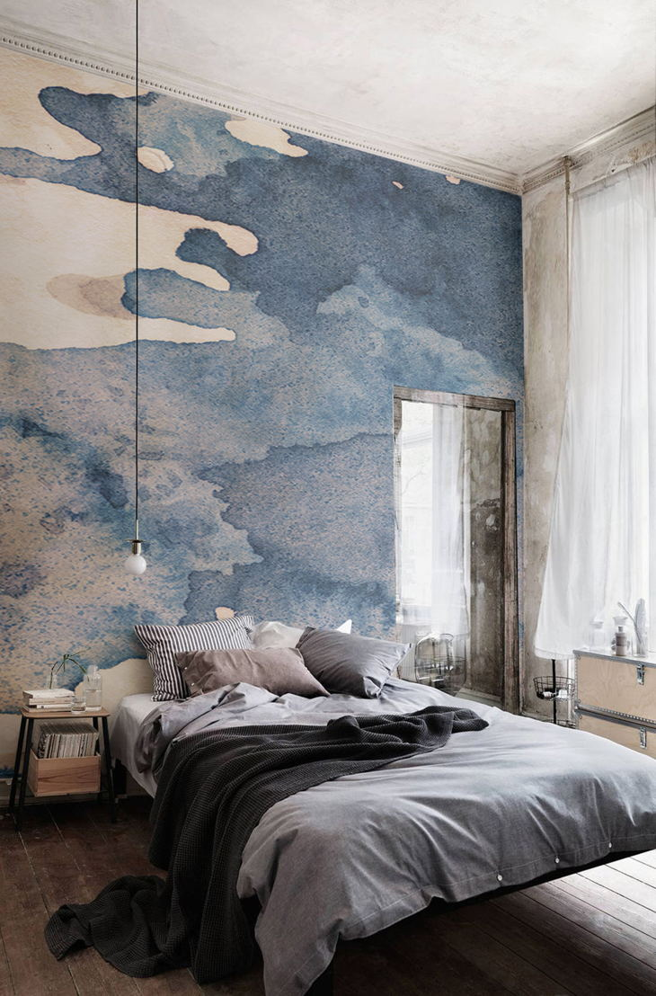 Ink Blot Watercolour Paint Wallpaper Mural
