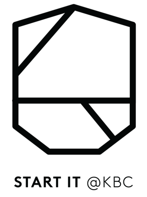 HR logo Start it @kbc - Black transparent