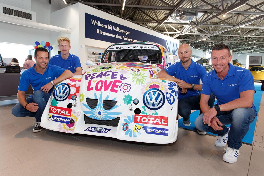 Tom Boonen au départ des 25 Heures VW Fun Cup avec Anthony Kumpen, Bert Longin et Ruben Van Gucht !