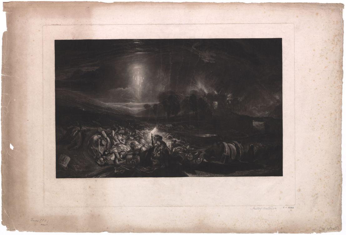 The Field of Waterloo, gravé par F.C. Lewis, d'après le tableau de J.M.W. Turner<br/>© Bibliothèque royale de Belgique