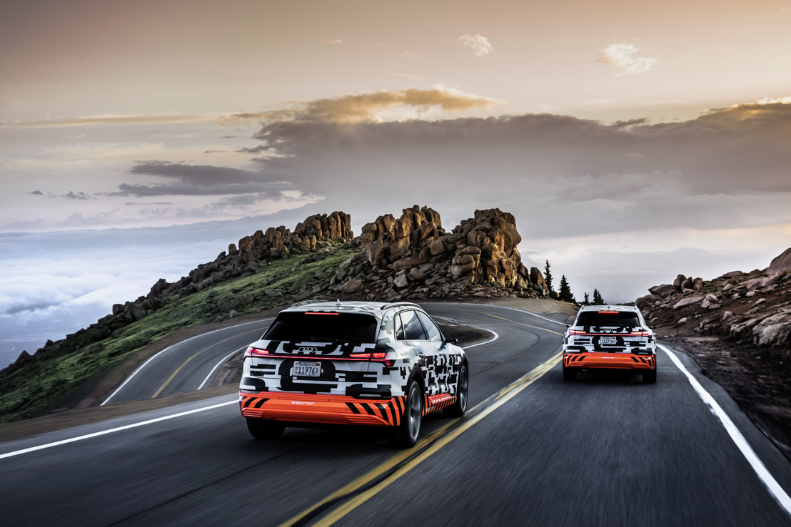 Transition énergétique : prototype Audi e-tron - test de récupération