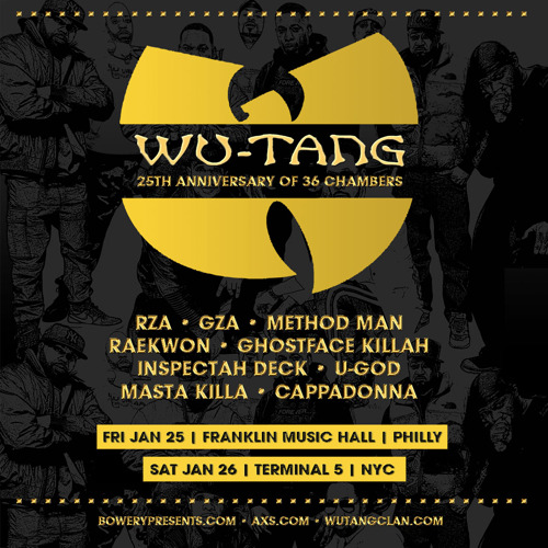Wu-Tang Clan Announce 2 Shows in Philadelphia & New York City in January 2019