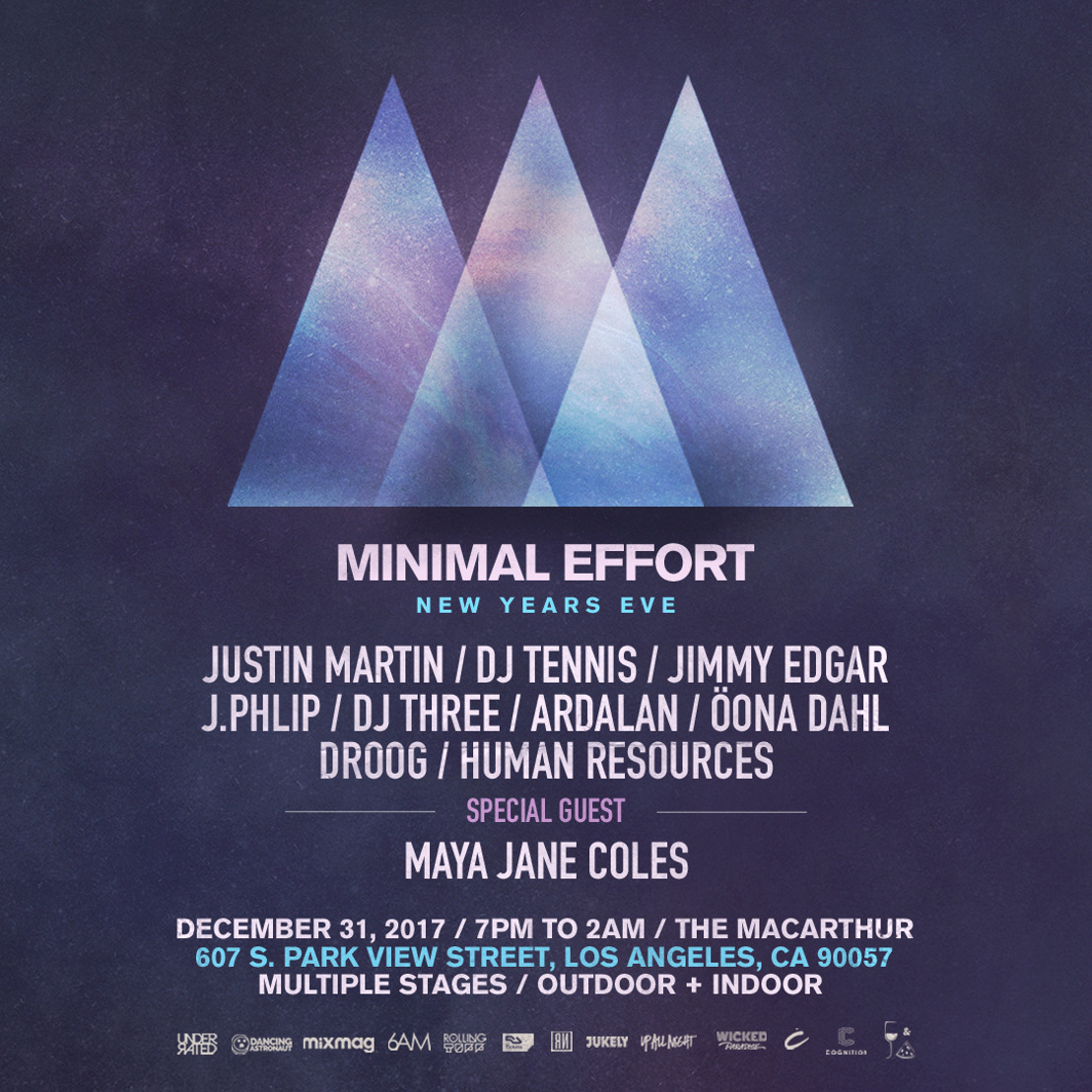Minimal Effort Adds Maya Jane Coles + Droog to 2017 New Year's Eve Festival
