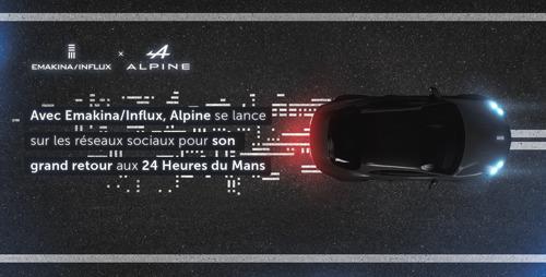 Avec Emakina/Influx, Alpine partage sur les réseaux sociaux sa présence aux 24 Heures du Mans