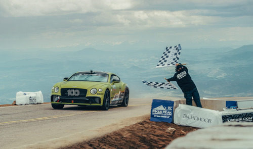 BENTLEY CONTINENTAL GT BREAKS OUTRIGHT PRODUCTION CAR RECORD AT PIKES PEAK HILL CLIMB