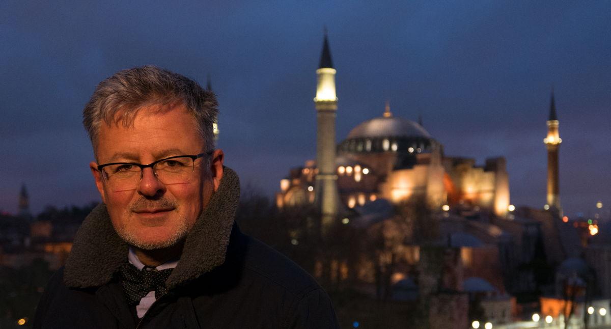 Christopher Clark bij de Hagia Sophia - (c) ZDF