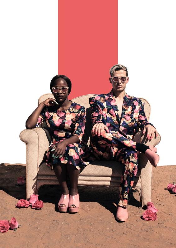 Lloyd Flanegan and Mmase Jane Mamakhooa in Let's Eat Hair. Image by Mark Dobson