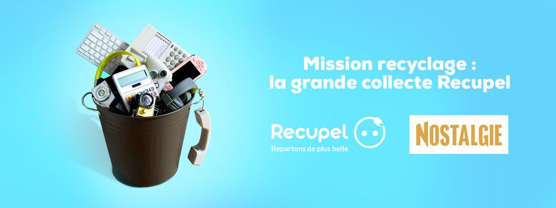 Nostalgie et Recupel s'unissent pour une grande action de recyclage et de solidarité !