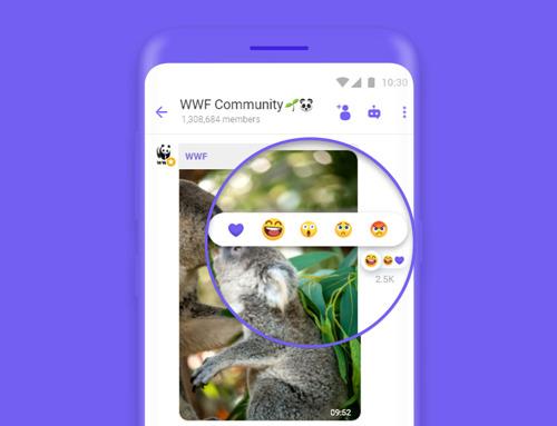 Потребителите ще могат още по-добре да изразяват себе си с реакции в общностите на Viber
