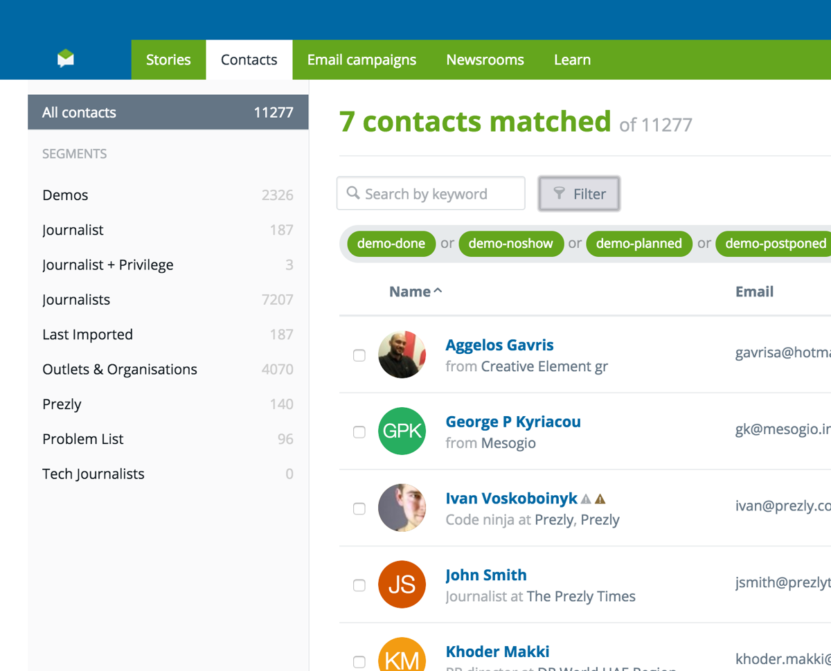 News: Find the right people in an instant with Segments