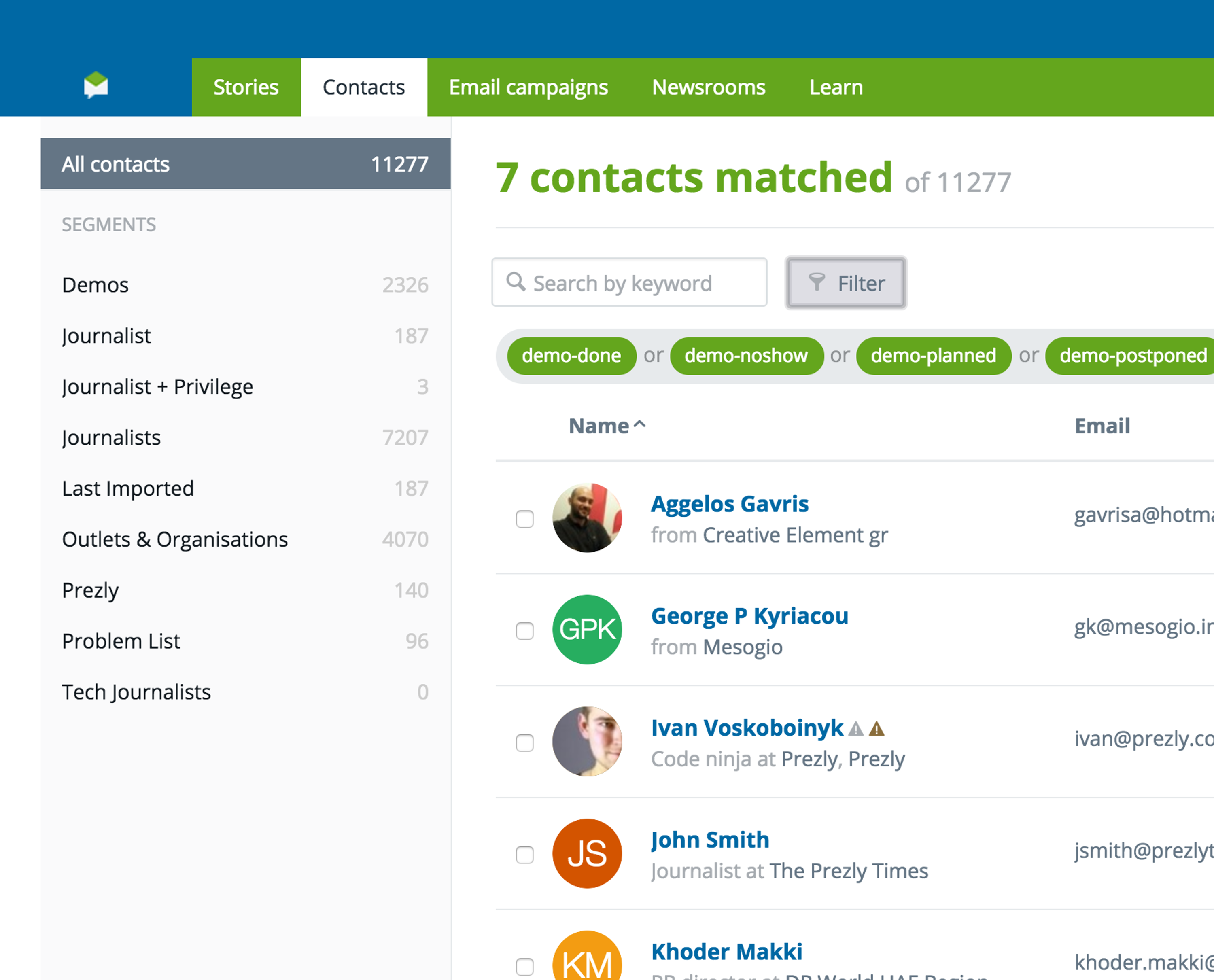 Find the right people in an instant with Segments