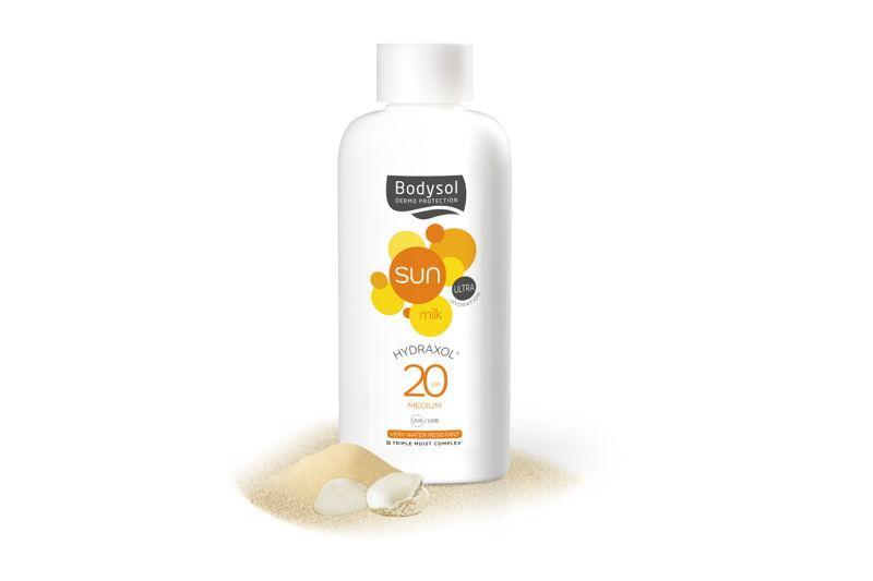 Bodysol Sunmilk Hydraxol SPF 20: €13,95 (200 ml)