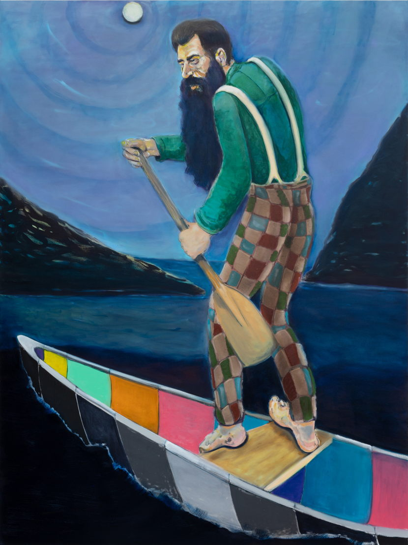 RYAN MOSLEY, Under Moon, 2018. Oil on canvas,<br/>200 x 150 cm. Courtesy Tim Van Laere Gallery, Antwerp