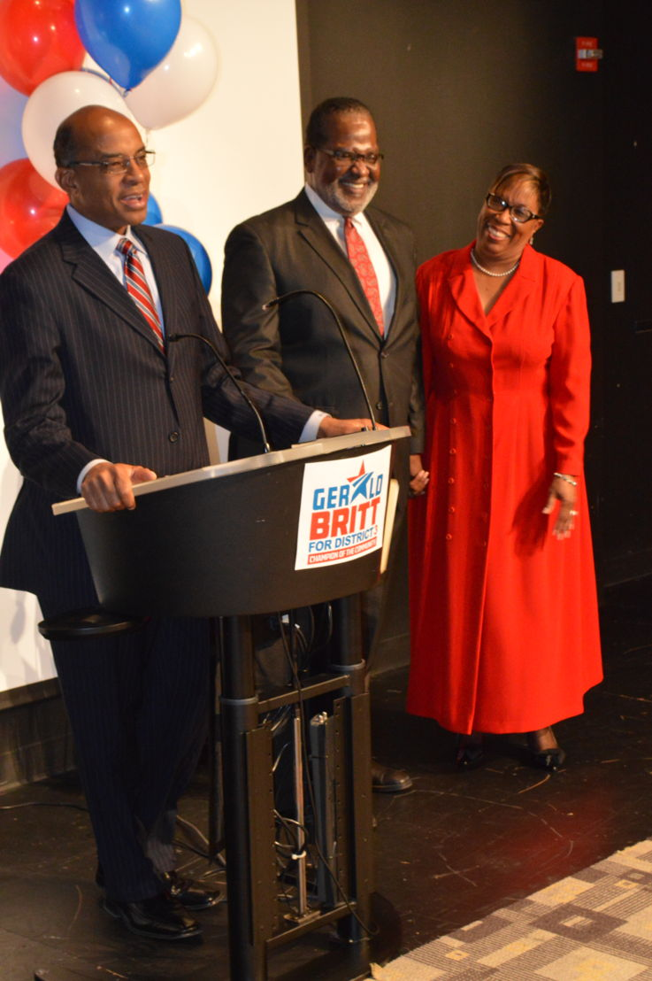 Mr. Willis Johnson, Rev. Gerald L. Britt Jr., Mrs. Terri Britt