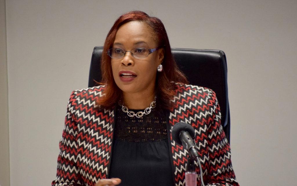 Financial Secretary, Government of St. Kitts and Nevis, Mrs. Hilary Hazel