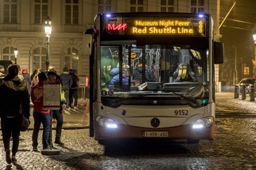 Gratis bussen van de MIVB tijdens Museum Night Fever