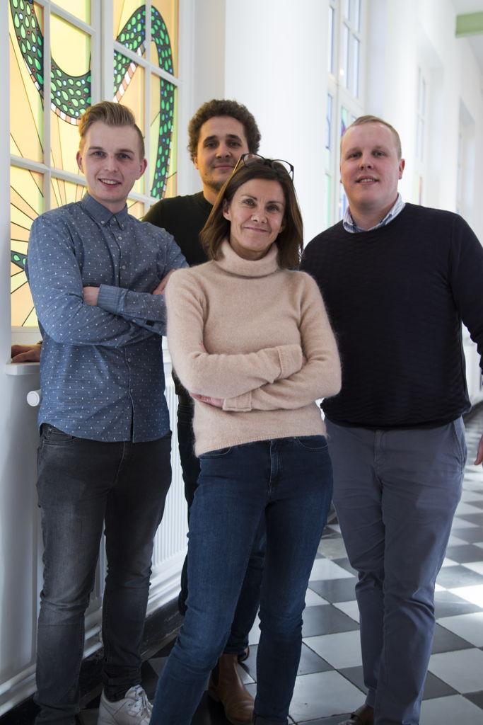vlnr: Sven Houben, Michael Gannouni, Ann Peetermans, Bram De Laere
