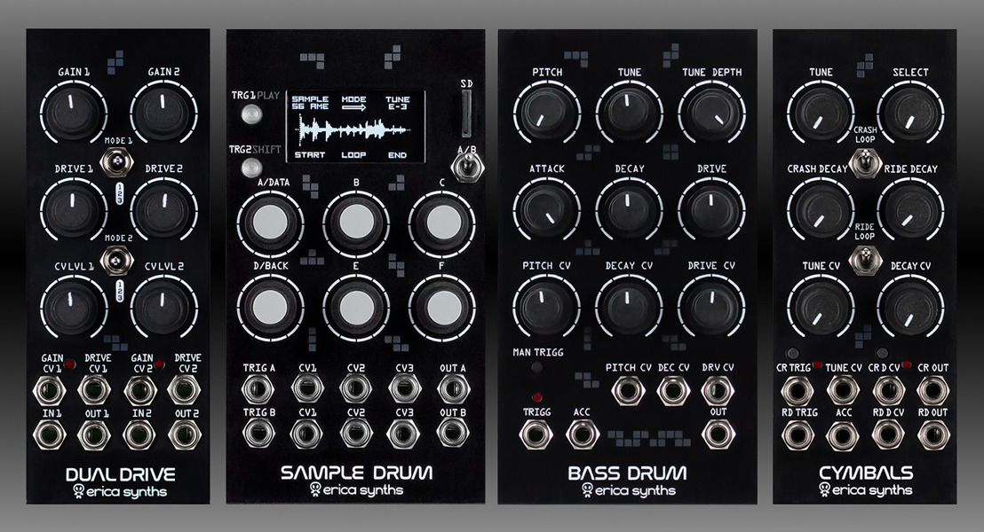 Holiday Treats from Erica Synths: 15% Off Drum Series Modules