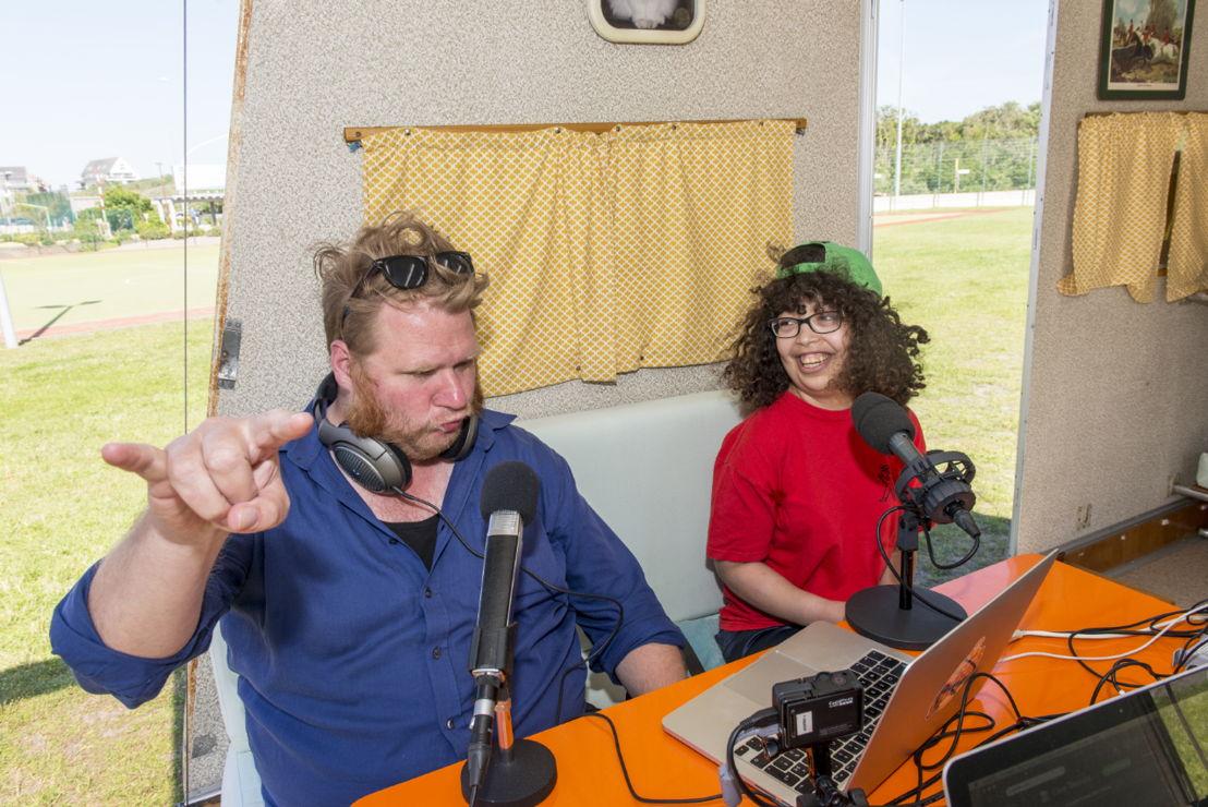 Radio Gaga in het Zeepreventorium - Dominique en Hanane - (c) Titus Simoens