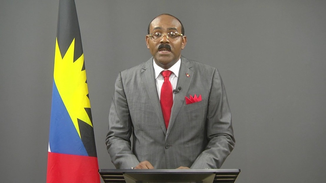 Hon. Gaston Browne, Prime Minister of Antigua and Barbuda, addresses the Small States Forum at the World Bank-IMF Annual Meetings