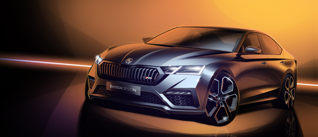 ŠKODA teases first sketches of all-new OCTAVIA RS iV