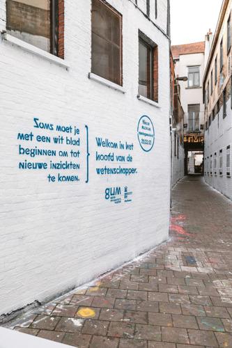 UGent en Bonka Circus kleuren het Gents Graffitistraatje wit: want soms moet je met een wit blad beginnen om tot nieuwe inzichten te komen