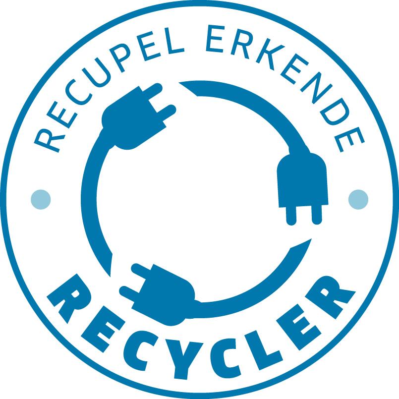 Logo Recupel erkende Recycler