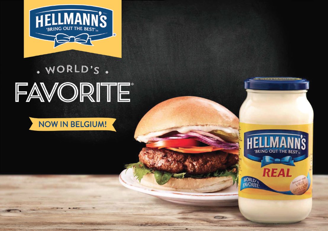 Hellmann's Real: célèbre dans le monde entier et enfin disponible en Belgique