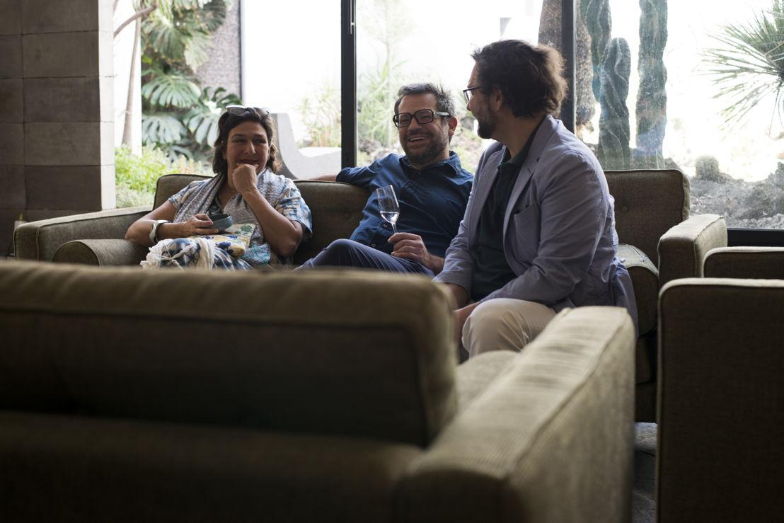 Isabella Mora, Pedro Reyes y Juan Manuel Artero