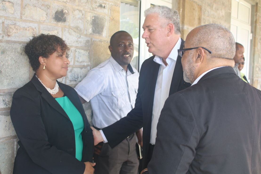Chairman of the OECS, Honourable Allen M. Chastanet, Prime Minister of Saint Lucia meets with members of the Commission's Leadership Team