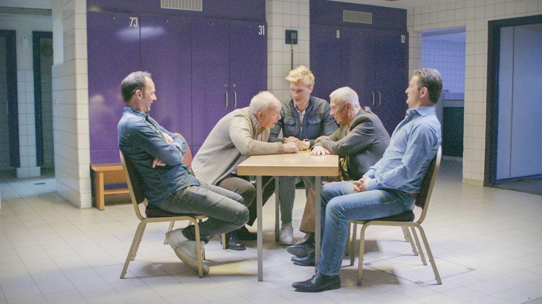 Anderlecht 2001: Bart Goor, Aimé Anthuenis, Ruben Van Gucht, Michel Verschueren, Tomasz Radzinski - (c) Deklat Binnen